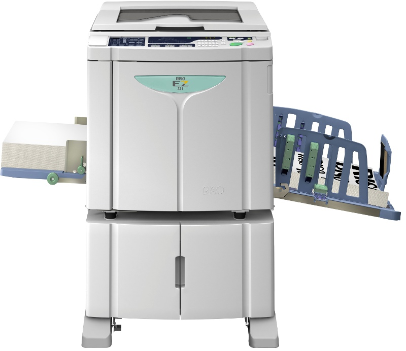 Riso EZ371 Neat convenient storage of ink and masters
